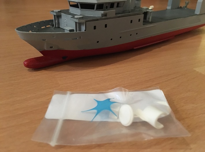 Rmah (A61), Propulsion & Steering Function (1:200) 3d printed printed parts as they come