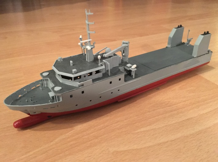 Rmah (A61), Hull (1:200) 3d printed complete model (painted, with additional parts)