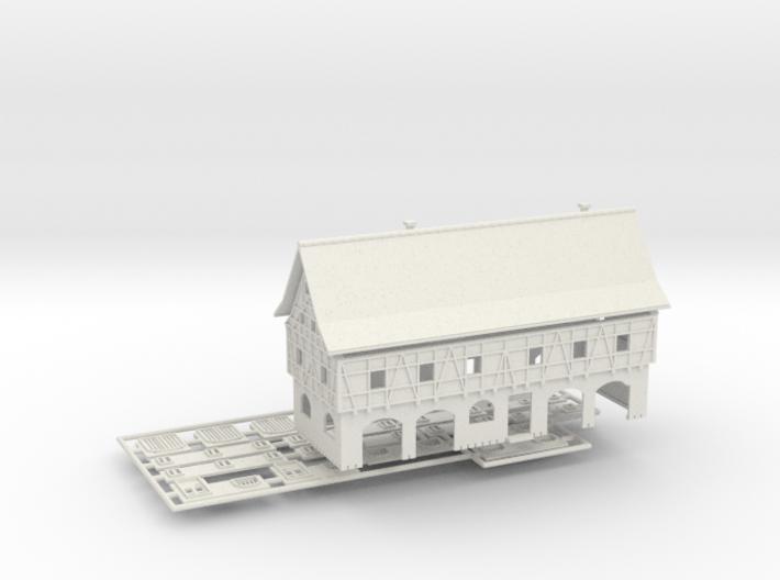 Einsatzzentrum Ver.2 - 1:220 (Z scale) 3d printed
