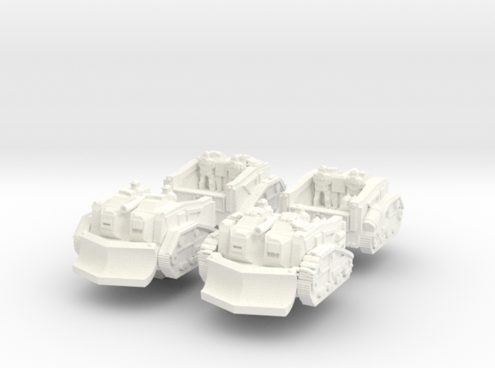 Mustang Scout Set 3d printed
