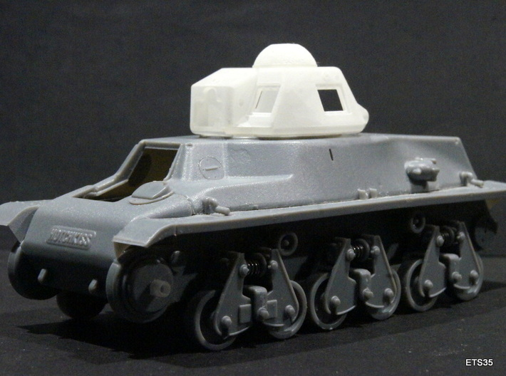 ETS35019 - APX-R turret with SA38 gun (1:35) 3d printed
