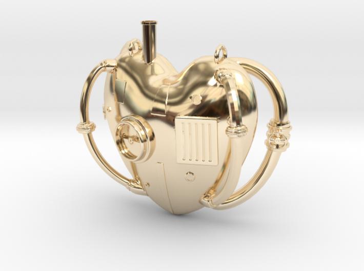 Steampunk Love Pendant 3d printed