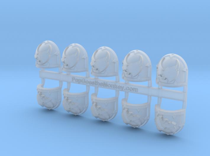 13th Company -Warped2 Left  Shoulder x10 3d printed