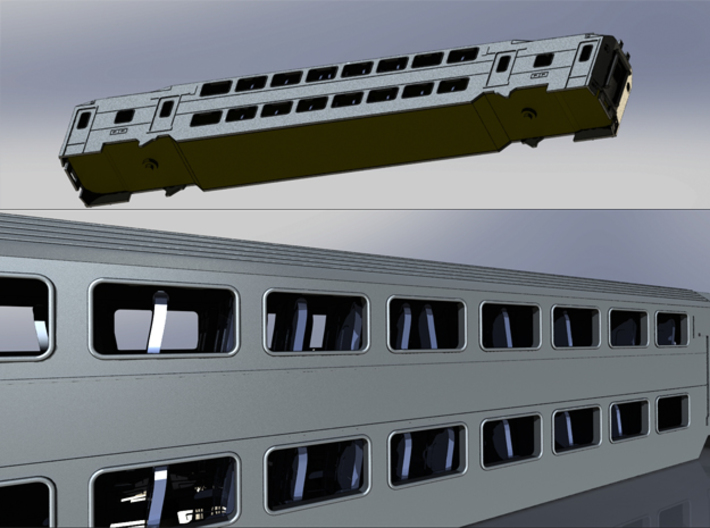 Chassis For NJ Transit Multilevel Coach  N Scale 3d printed