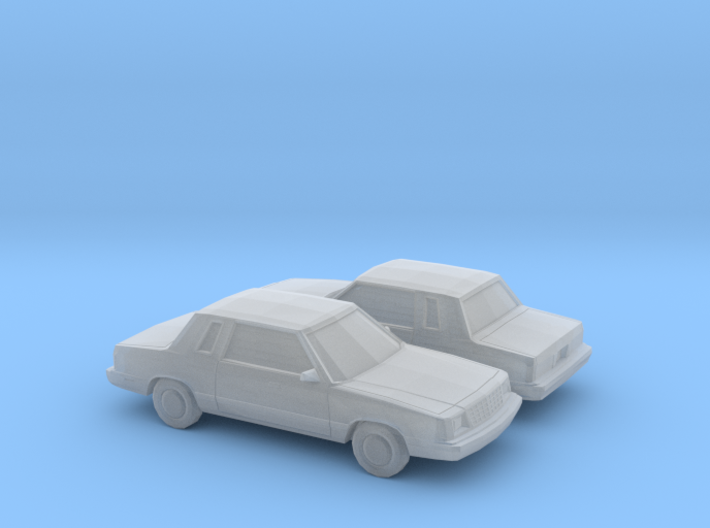 1/160 2X 1985-89 Plymouth Reliant Coupe 3d printed
