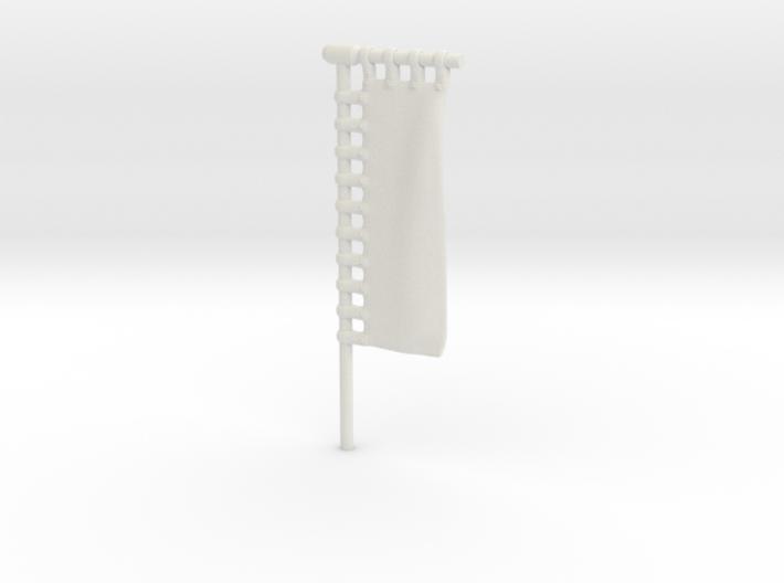 28mm/32mm Customisable Sashimono Flag Long 3d printed