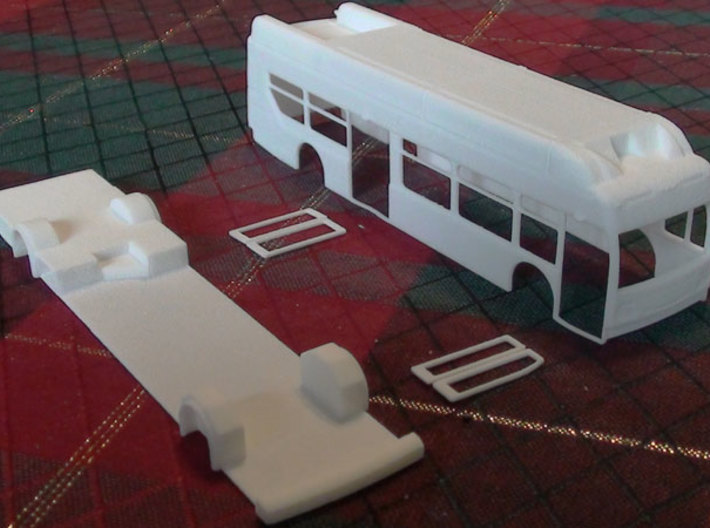 HO New Flyer Xcelsior CNG Bus (w/ interior) 3d printed