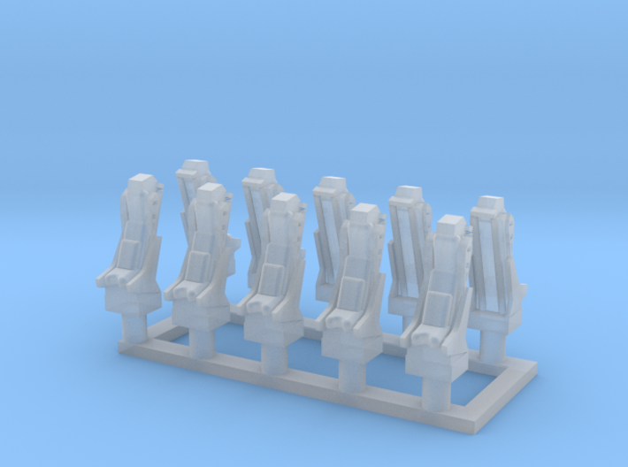 025E Martin-Baker Seats - 1/100 - set of 10 3d printed