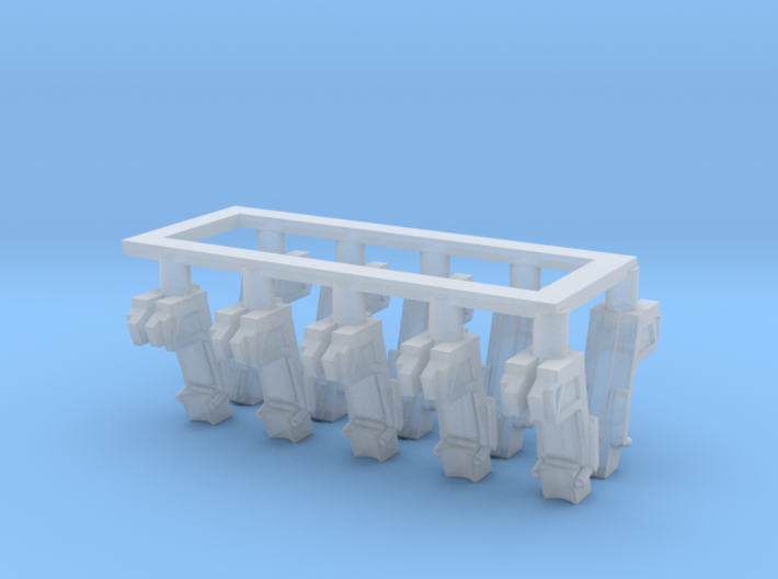 025F Martin-Baker Seats - 1/100 - set of 10 3d printed