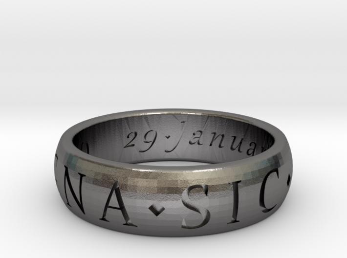 Size 9 Sir Francis Drake, Sic Parvis Magna Ring  3d printed