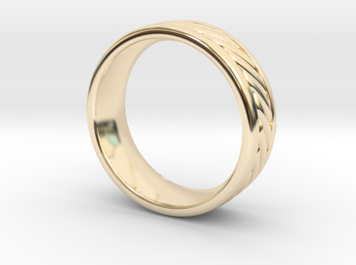 Nautical Rope Ring - Size 8.5 3d printed