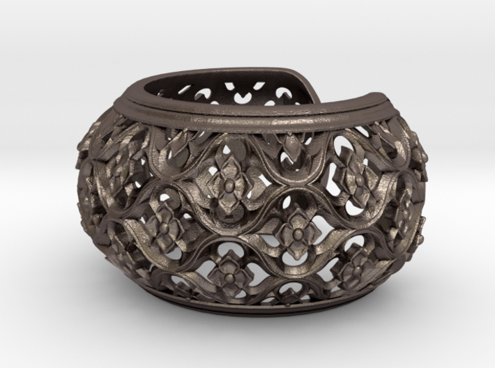 Gothic Bangle 3d printed