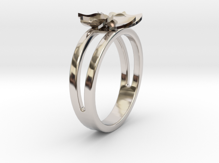 Flower Ring Size 5 3d printed