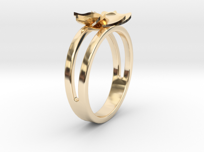 Flower Ring Size 6 3d printed