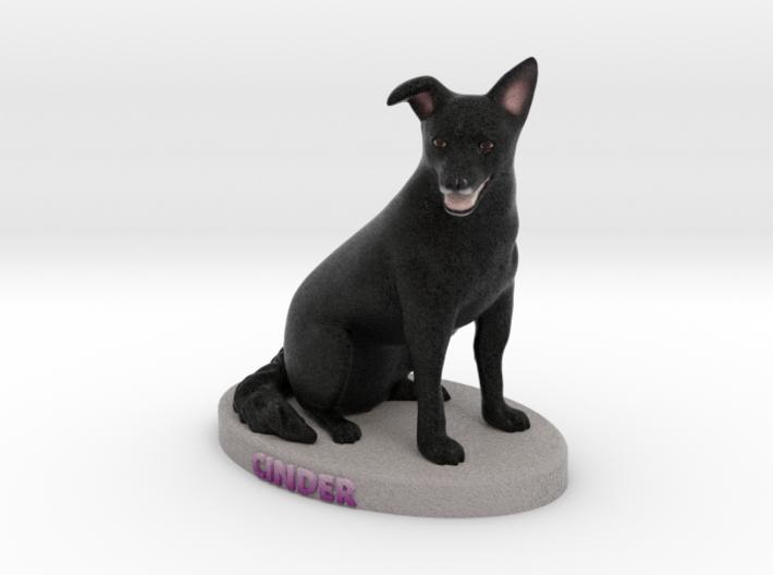 Custom Dog Figurine - Cinder 3d printed