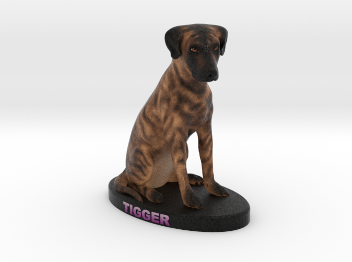 Custom Dog Figurine - Tigger 3d printed