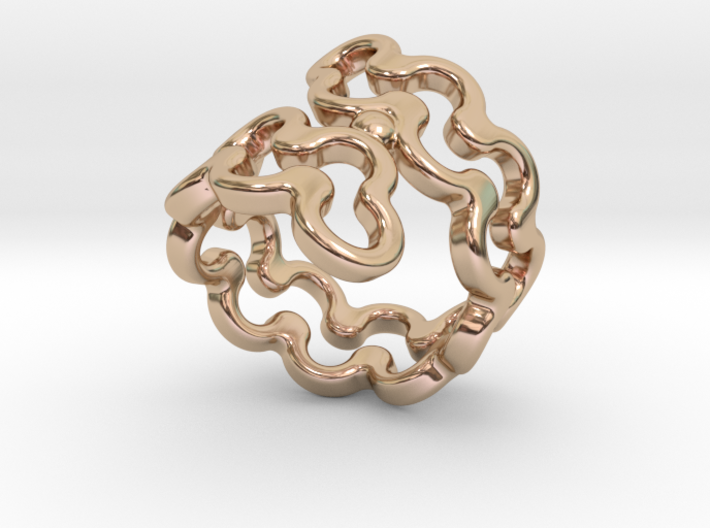 Jagged Ring 16 - Italian Size 16 3d printed
