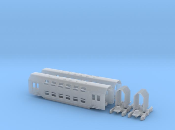 1:220 PKP Doppelstockzug Erweiterung für Spur Z 3d printed