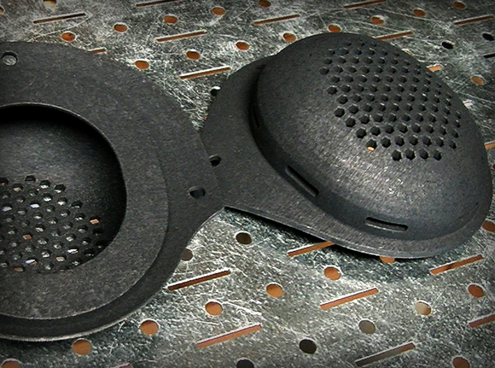 Airsoft GSG9 Style Ear Cups for IBH Helmet 3d printed