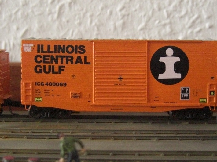TT high cube 40 foot boxcar 3d printed Unweathered model