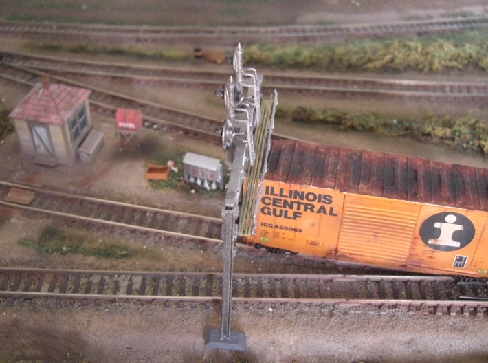 TT high cube 40 foot boxcar 3d printed Weathered model