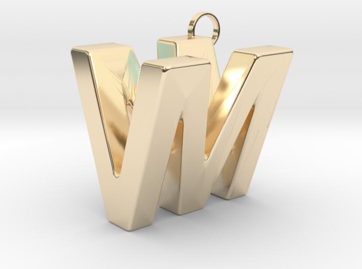 V&M 3D Ambigram 3d printed