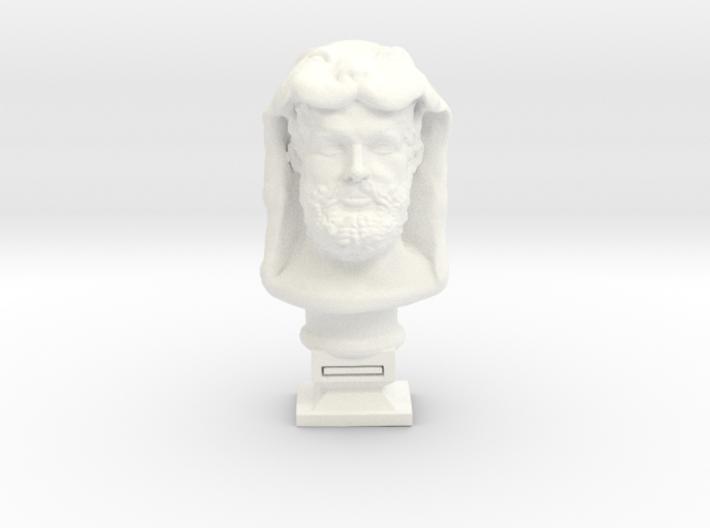 Hercules bust 3d printed