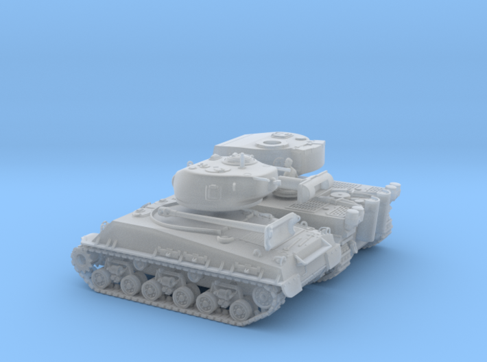 (temporary) 1/87 - Tiger I and Sherman M4a3e8 3d printed