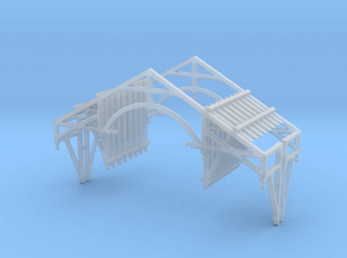 O Scale QN Brackets And Gable Detail 3d printed