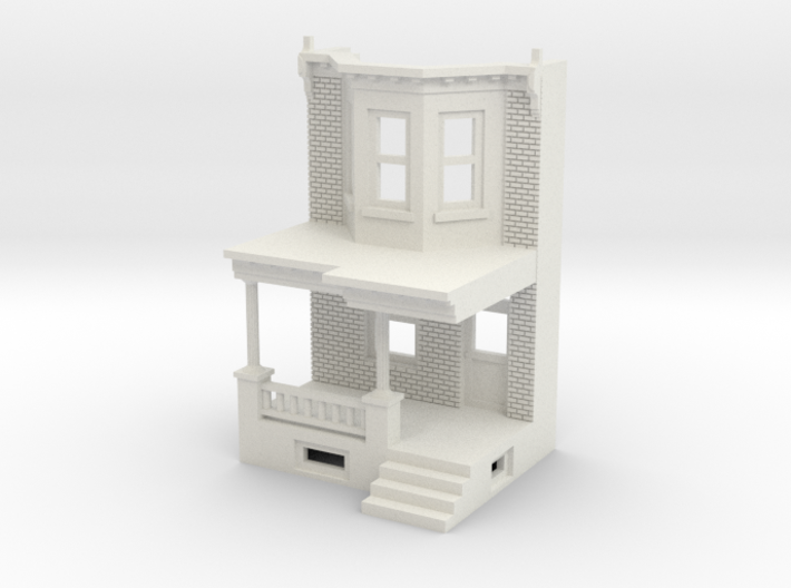 WEST PHILLY ROW HOME FRONT 160 3d printed