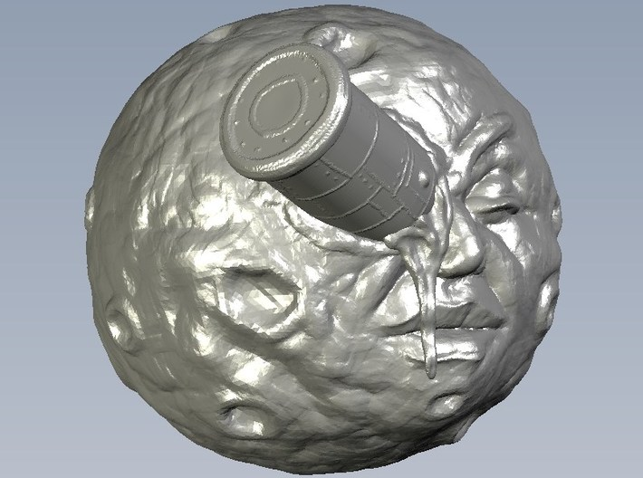 """65mm scale """"A trip to the Moon"""" iconic face bust 3d printed"""