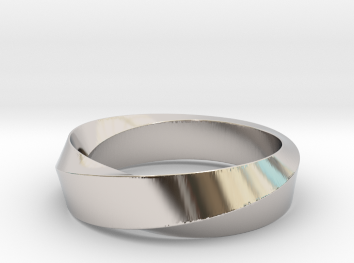 Mobius Wide Ring (Size 10) 3d printed