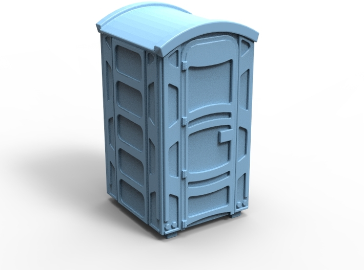 Portable Toilet 01. N scale (1:160) 3d printed