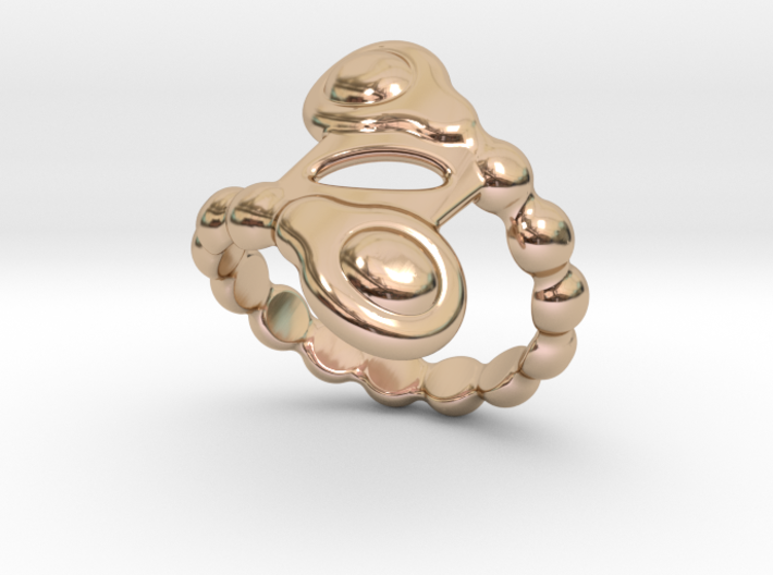 Spiral Bubbles Ring 14 -Italian Size 14 3d printed