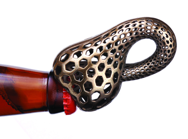 Inscribed Klein Bottle Opener 3d printed