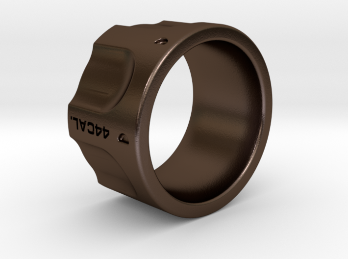 Revolver fashion Ring Size 10 3d printed