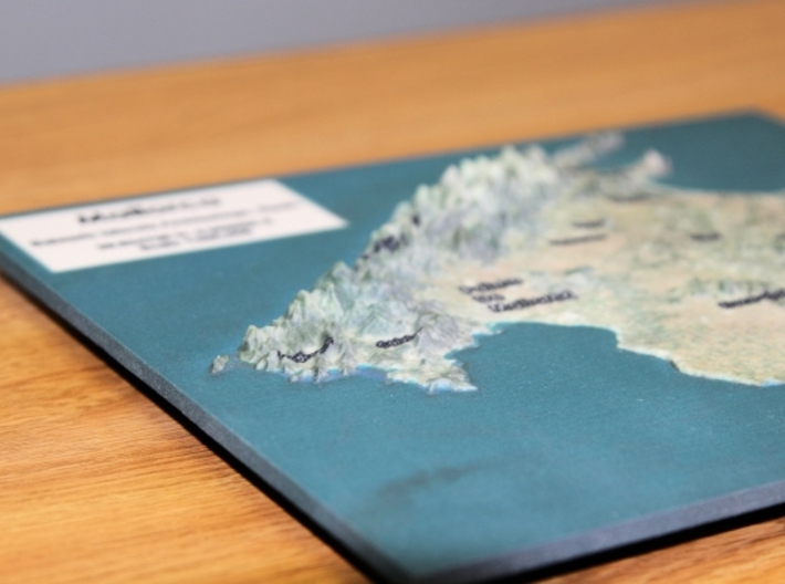 Mallorca Map - True Color w/Labels 3d printed View from Left..