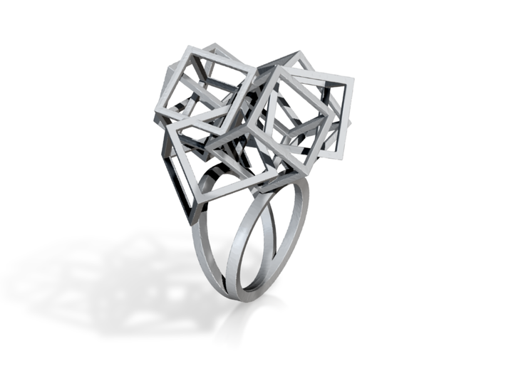 Zicube-3d printed jewelry-size 7 3d printed