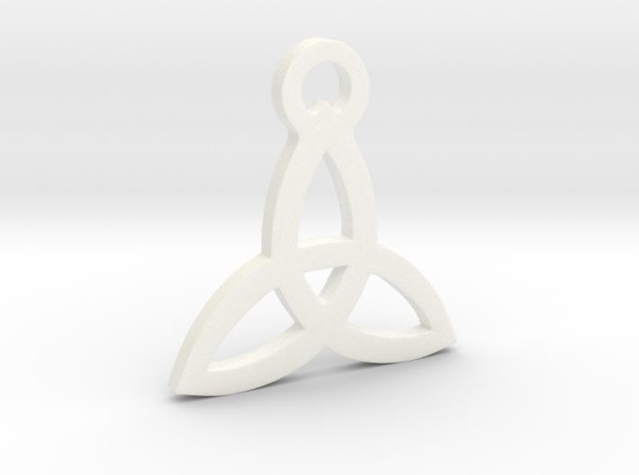 Triquetra Pendant (Triad) 3d printed