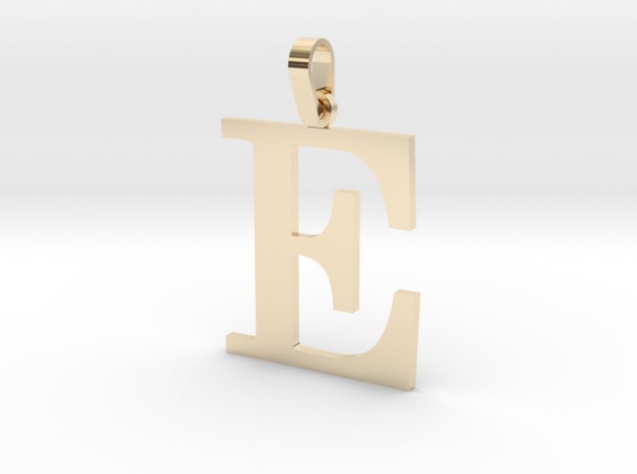 E Letter Pendant 3d printed