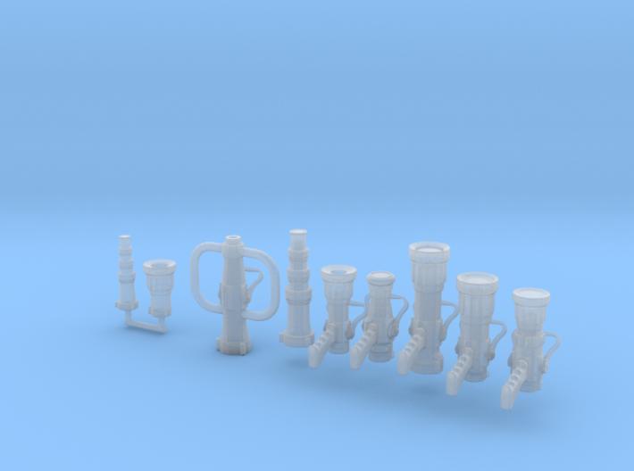 1/24 scale handline nozzle assortment 3d printed
