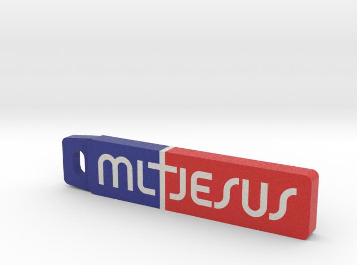 ML Jesus Key Tag 3d printed
