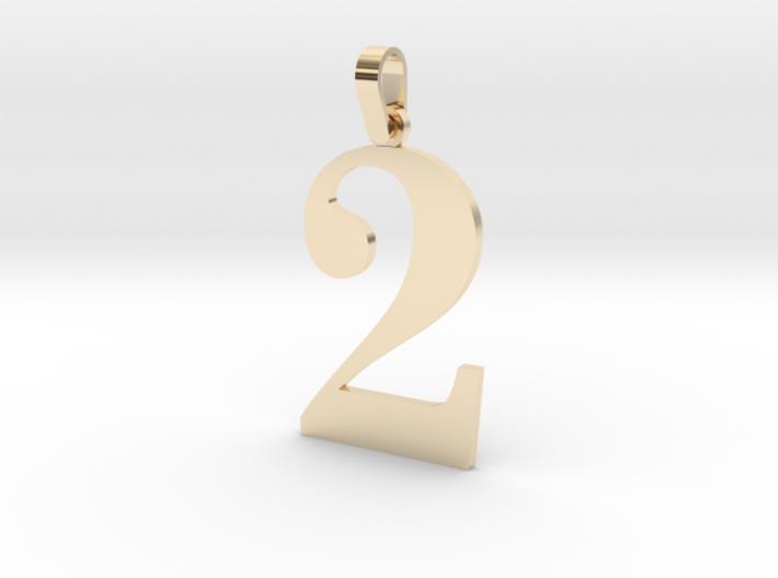 2 Number Pendant 3d printed
