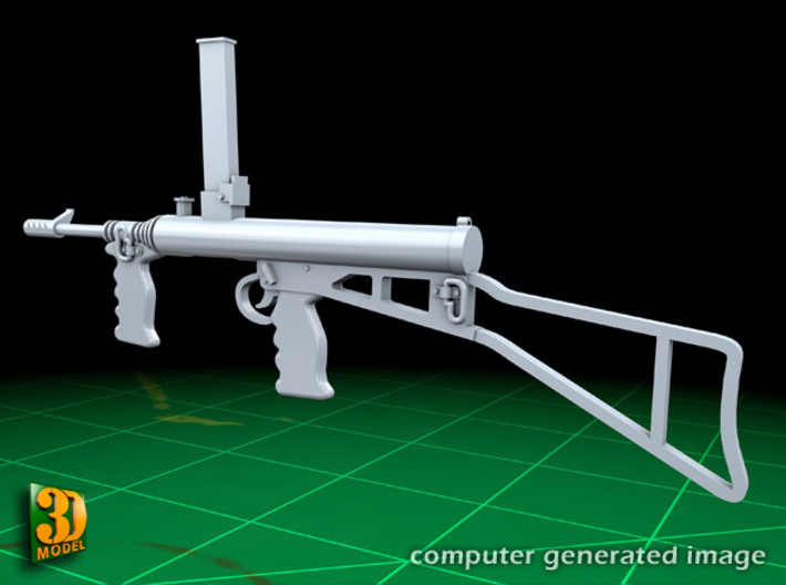 Owen submachine gun (1:10) 3d printed Owen submachine gun 1:10 - left side