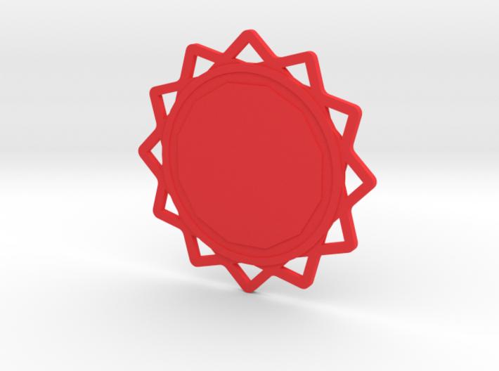 Custom Mandala Pendant 6 3d printed