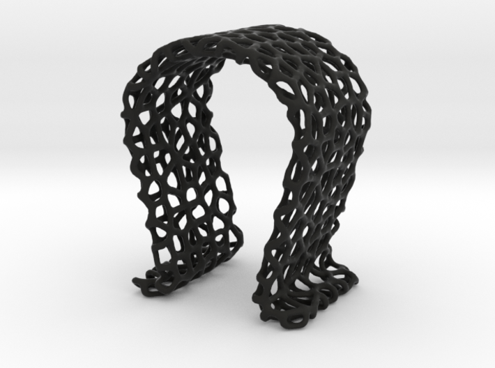 Omega Headphone Stand - Voronoi style 3d printed