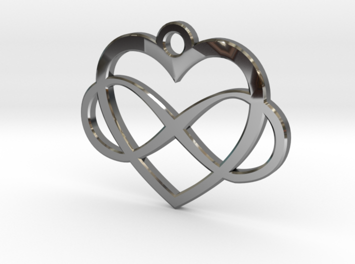 Infinity Heart 3d printed