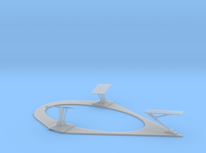 Undercarriage & base for 100T Traveller Scoutship 3d printed