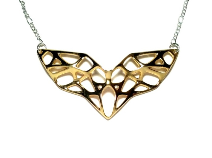 Goldmine Necklace 3d printed Gold Plated Brass