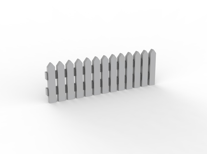 Fence 01. HO scale (1:87) 3d printed Small garden fence in HO scale (1:87)